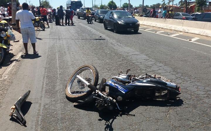 Acidente mata motociclista próximo à Casa de Custódia
