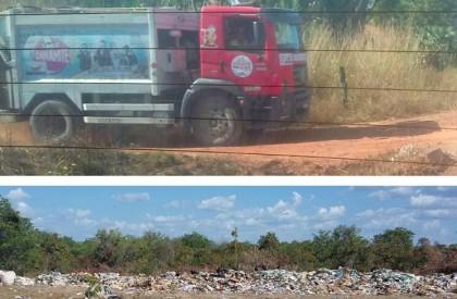 Prefeitura joga lixo em área de mananciais em Barras
