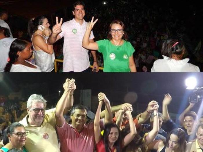Comício e caminhada movimentam política em Matões