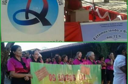 Em 68 horas, evangélicos atingem a meta da leitura da Bíblia Sagrada em praça pública em Piripiri