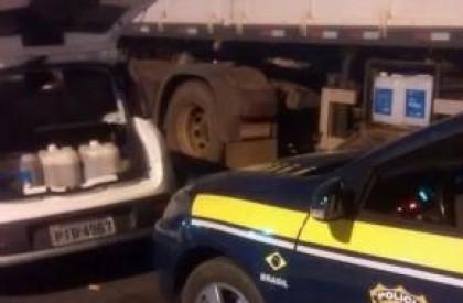 PRF prende duas pessoas por comércio ilegal de combustível