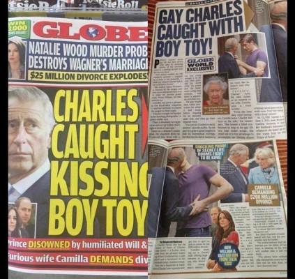 Príncipe Charles é flagrado aos beijos com...
