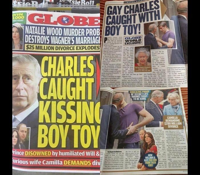 Príncipe Charles é flagrado aos beijos com rapaz mais jovem