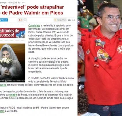 Portal diz que prefeito arrisca reeleição por...