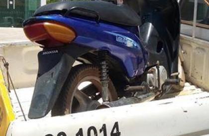 PM recupera moto roubada em Lagoa de S. Francisco