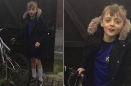 Ladrões devolvem bicicleta de garotinho