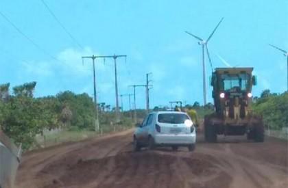 Obras da estrada Pedra do Sal a Ilha Grande...