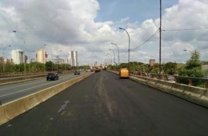 Ponte do Meio terá faixa interditada neste sábado (14)