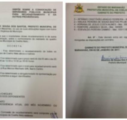 Servidores públicos de Coelho Neto devem fazer...