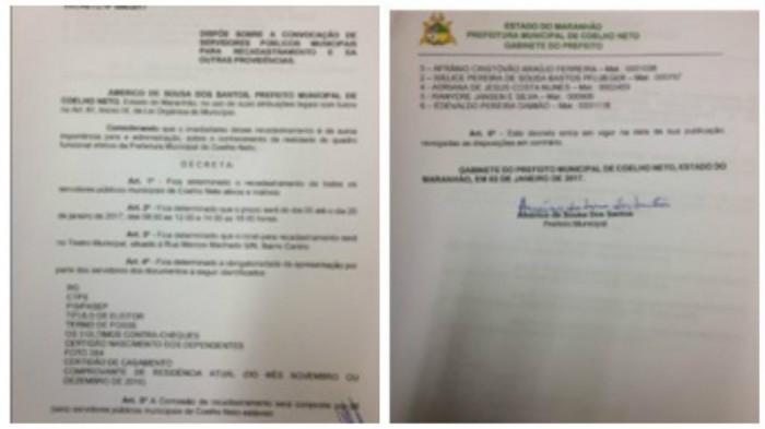 Servidores públicos de Coelho Neto devem fazer recadastramento obrigatório