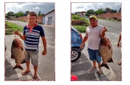 FOTO: Homem pesca tambaqui gigante em açude de Pedro...