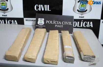 Tráfico: Polícia Civil apreende 5kg de maconha em Picos