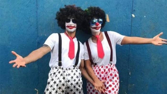 Ivete Sangalo curte 'pipoca' fantasiada de palhaço em Salvador