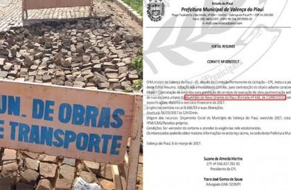 Prefeitura de Valença anuncia licitação para calçamento em Novo...