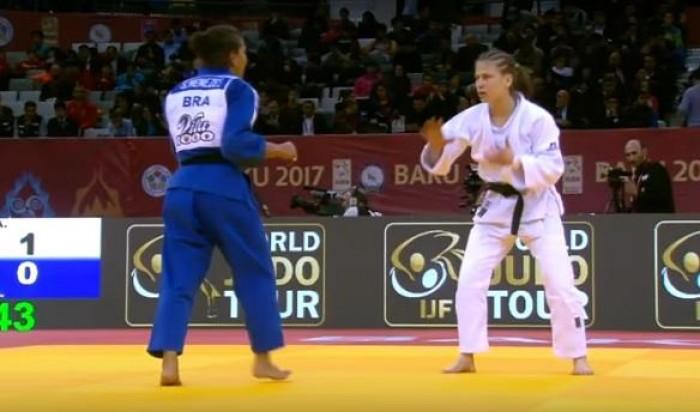 Sarah Menezes fica em quinto lugar no Grand Slam de Baku