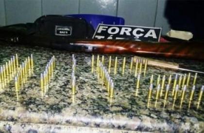 PM apreende rifle com 78 munições após briga em Pau D'Arco do Piauí