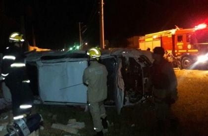 Estudante morre após capotar veículo em Parnaíba