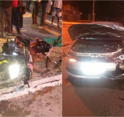 Jovem morre após colidir com carro em...