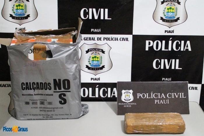 Polícia Civil apreende cocaína em ônibus clandestino em Picos