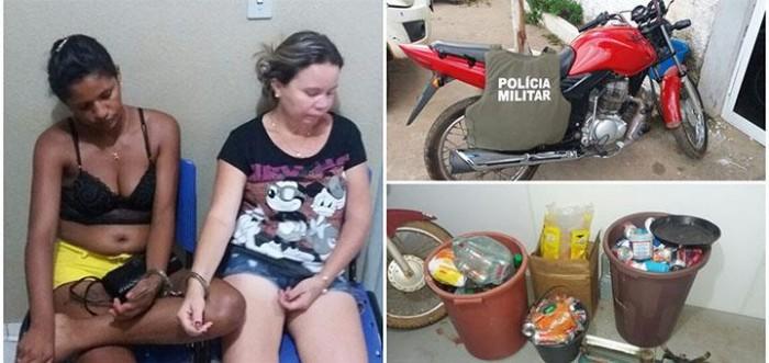Irmãs são presas acusadas de receptação em Picos