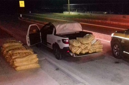 PRF apreende 480kg de fumo transportado ilegalmente em Valença