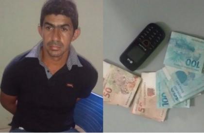 Suspeito deixa cair celular e polícia efetua prisão após assalto