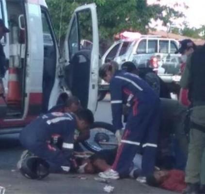 Assaltante morre em acidente após perseguição em...