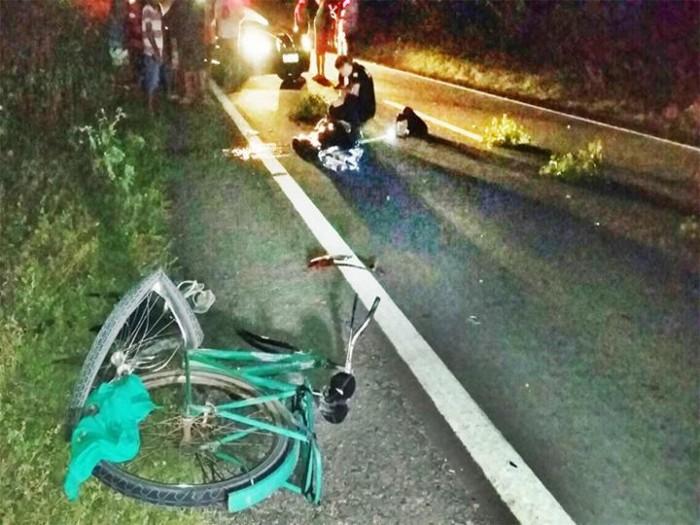 Ciclista morre após ser atropelado por veículo na BR-402
