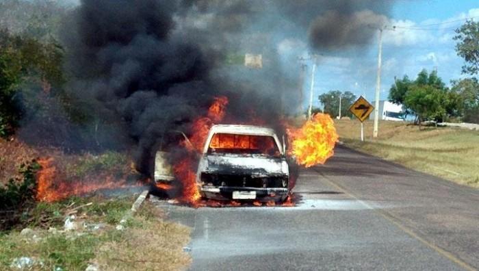 Casal escapa com vida de veículo que pegou fogo em Piracuruca