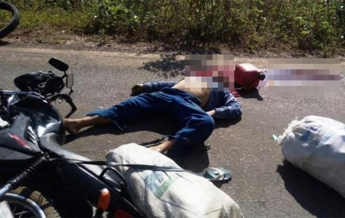 Homem morre em colisão entre duas motos na PI-213
