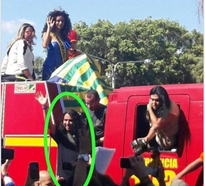 Thanis Killian rouba a cena na chegada da Miss Brasil em Teresina