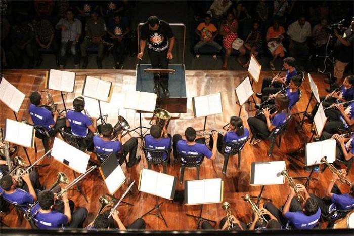 Banda infanto-juvenil Tom Jobim se apresenta no Concertos Matinais
