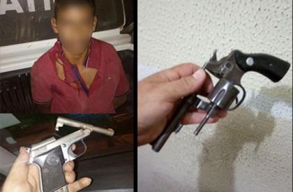 Homem acusado de arrastão é preso com armas e celulares roubados