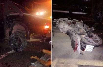 Jovem morre após colidir motocicleta em S-10 no interior do Piauí