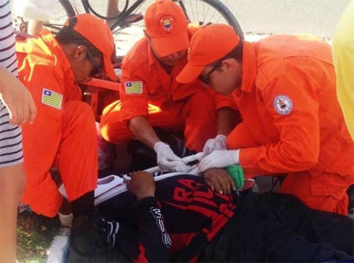 Motocicletas colidem e deixam dois feridos em Parnaíba