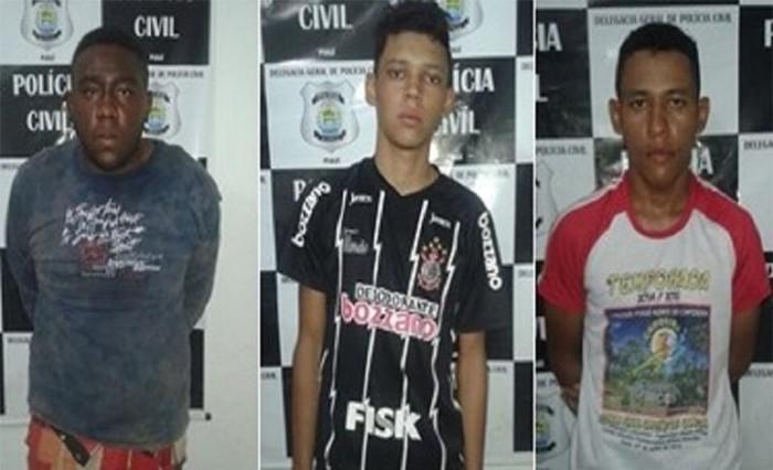 Três são presos por roubo a empresário em José de Freitas