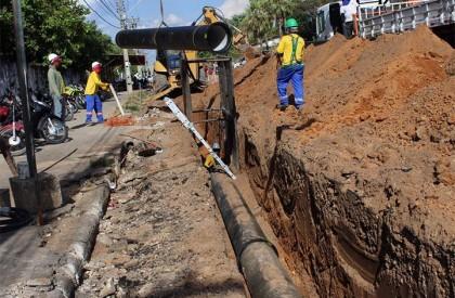 Águas de Teresina inicia implantação de nova adutora na zona Sul da Capital