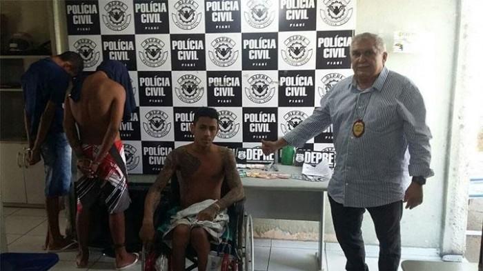 Cadeirante é preso acusado de tráfico de drogas na zona sudeste de Teresina