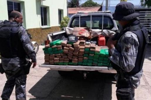 Casal é preso com mais de 100 tabletes de maconha em Floriano