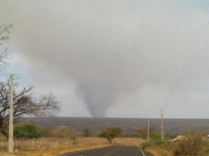 Incêndio já dura seis dias na zona rural de Assunção do Piauí