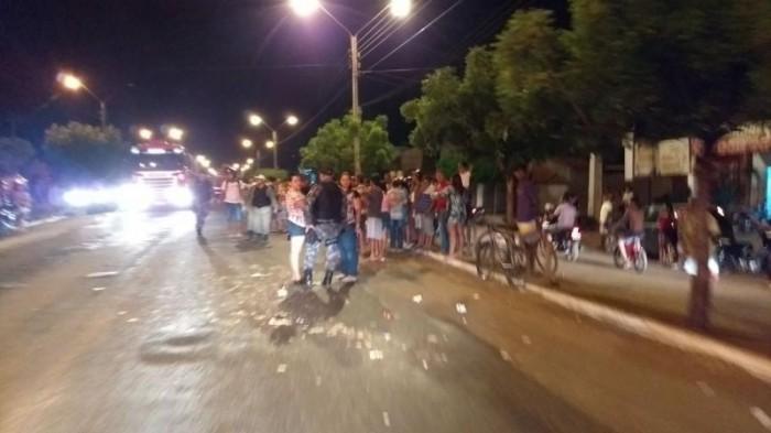 Motoqueiro atropela e mata idoso na BR-316 em Picos