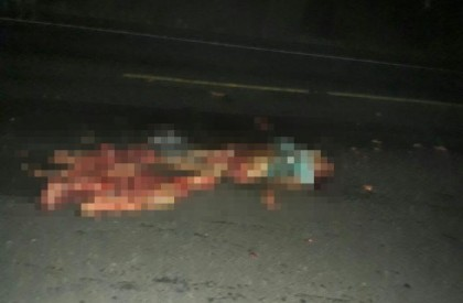 Mulher morre esmagada ao tentar atravessar BR na zona...