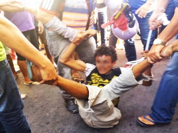 Jovem acusado de homicídio sofre tentativa de linchamento em Parnaíba