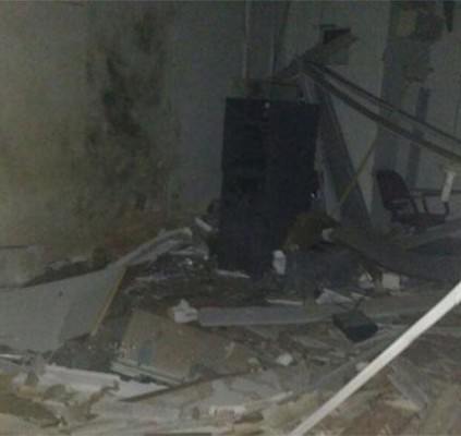 Bando armado explode agência do banco Bradesco...
