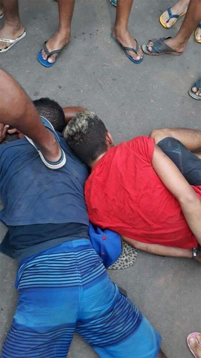 Menores sofrem tentativa de linchamento após tentarem assaltar PM