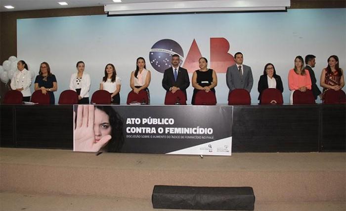 OAB realiza debate sobre aumento do número de feminicídio no PI