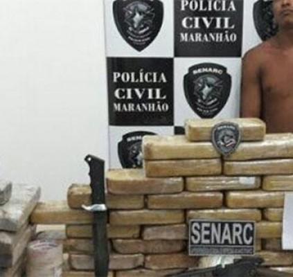 Polícia apreende 70 kg de drogas na...