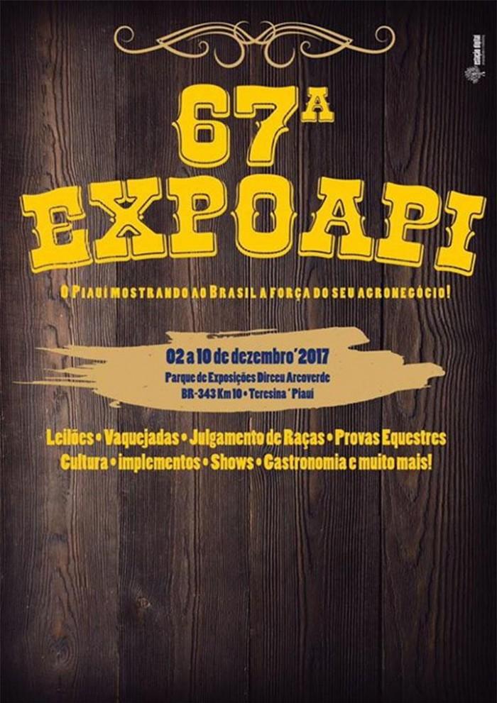 67ª edição ds Expoapi inicia neste sábado (02) e reunirá grandes shows