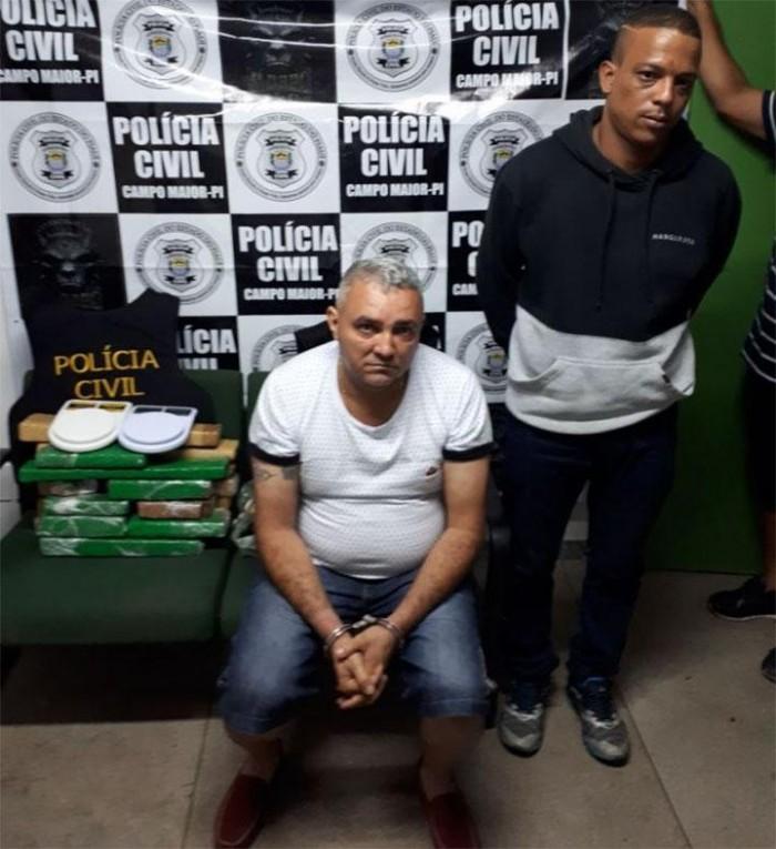 Acusado de tráfico de drogas do Piauí é preso com comparsa no CE