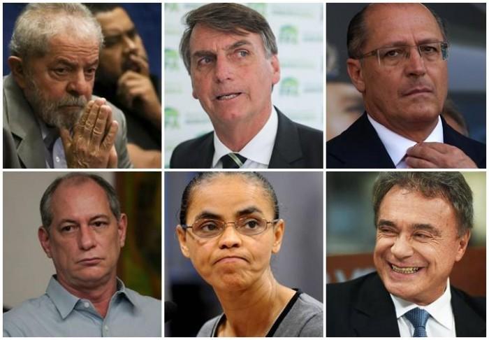 Datafolha mostra Lula com 37%, Bolsonaro 16%, Alckmin 7%